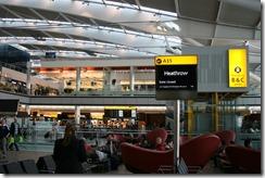 Waiting/Relaxing/Napping at Heathrow