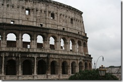 The Colosseum after stepping up and back